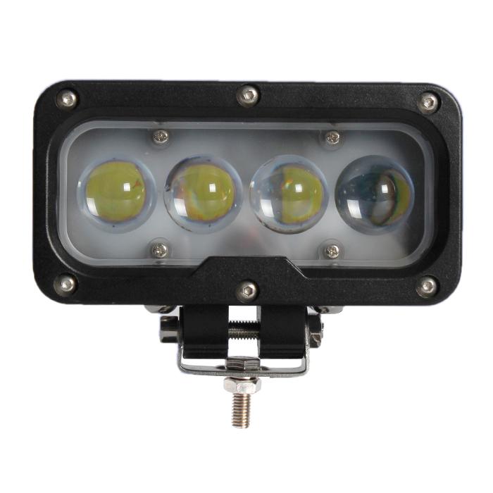 LED světlo na pracovní stroje obdélníkové 10-30V, 4 x 10W