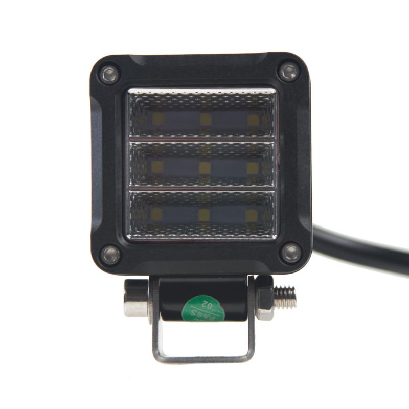 LED světlo na pracovní stroje čtverec 10-30V, 9 x 2,5W