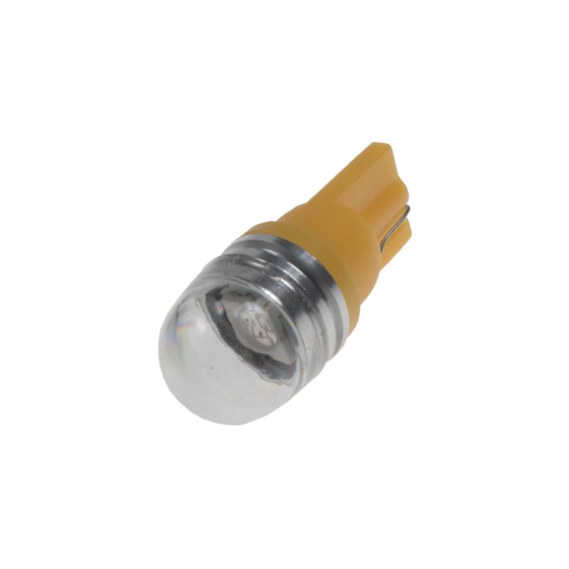 LED T10 oranžová, 12V, 1LED/3SMD s čočkou