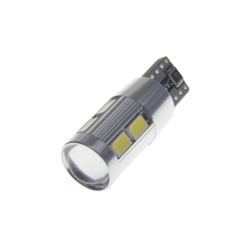 CREE LED T10 bílá, 12V, 5W + 8LED/5630SMD, (W3W, W5W)