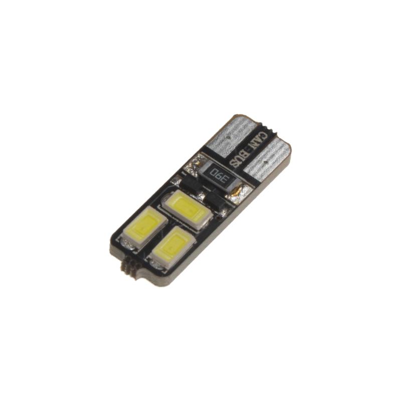 LED T10 bílá, 12V, 6LED/5730SMD