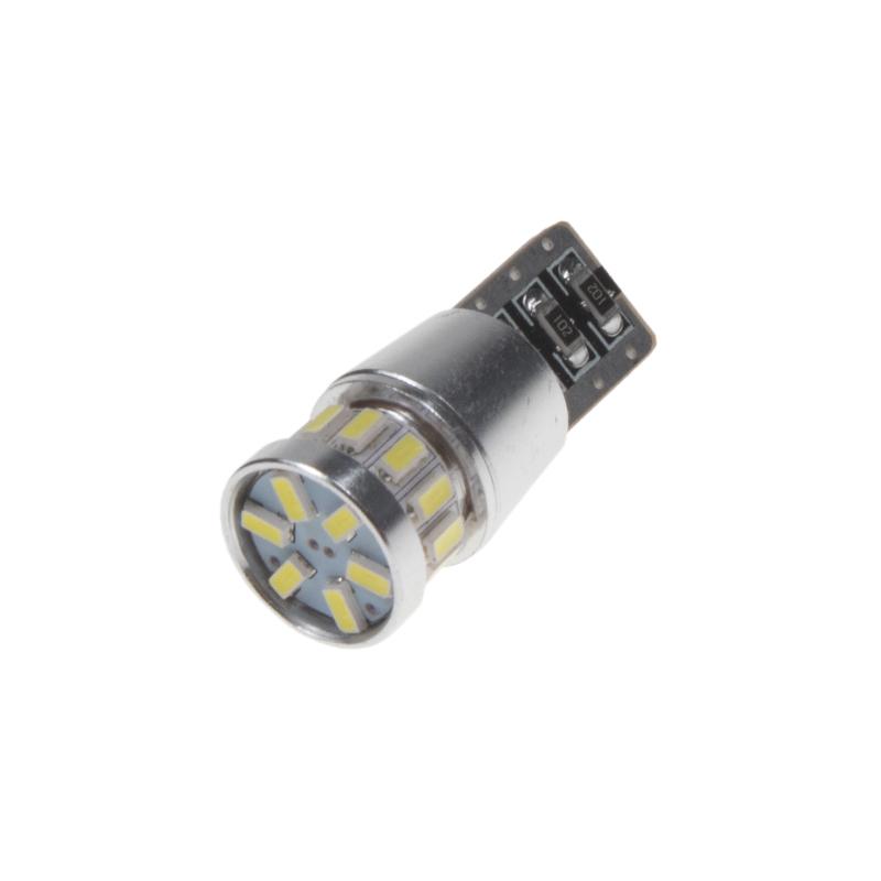 LED T10 bílá, 12V, 18LED/3014SMD