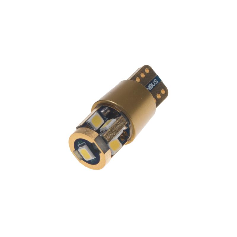 LED T10 bílá, 12V, 9LED/2835SMD