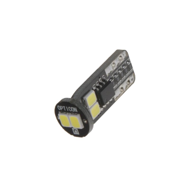 x LED T10 bílá, 12V, 6LED/2835SMD