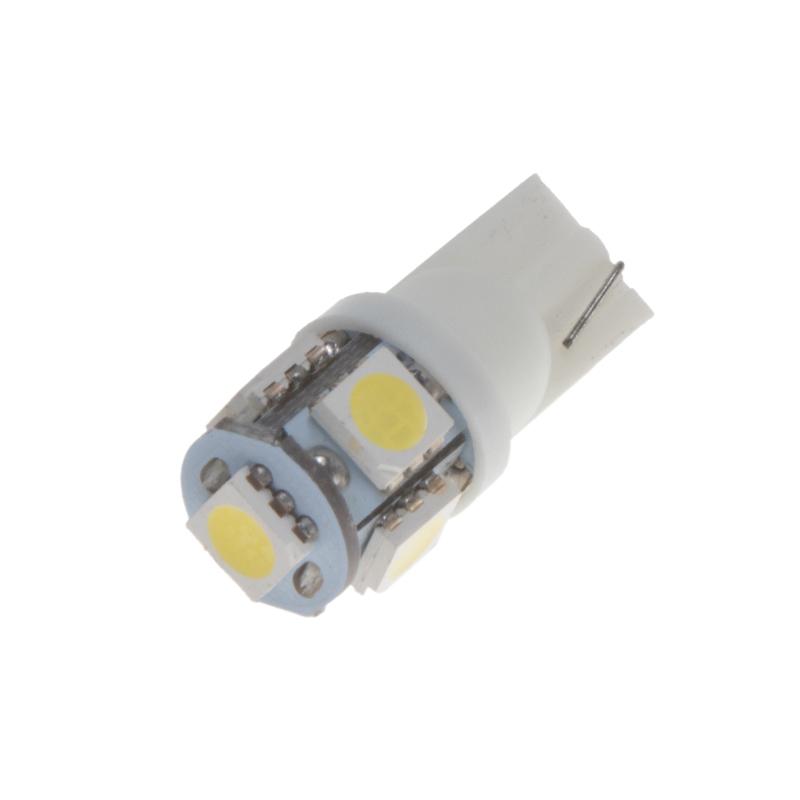 LED T10 bílá, 12V, 5LED/3SMD