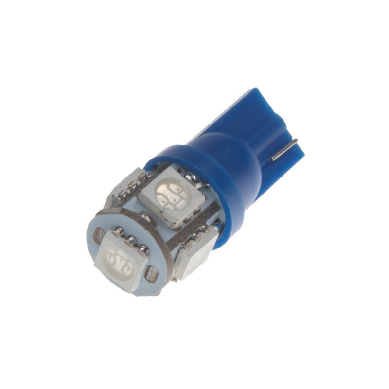 LED T10 modrá, 12V, 5LED/3SMD