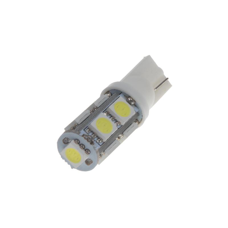 LED T10 bílá, 12V, 9LED/3SMD