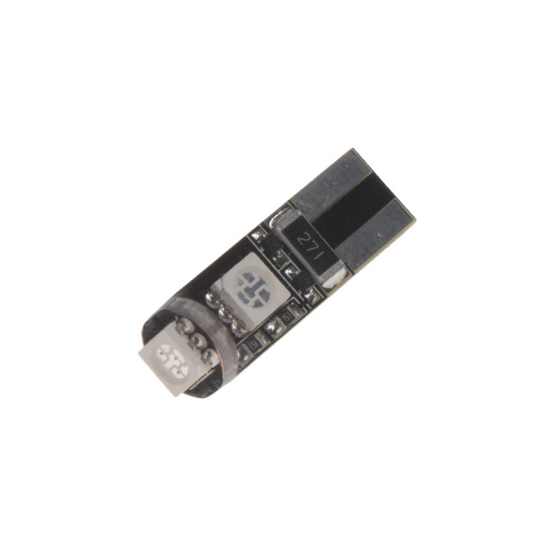LED T10 červená, 12V, 3LED/3SMD
