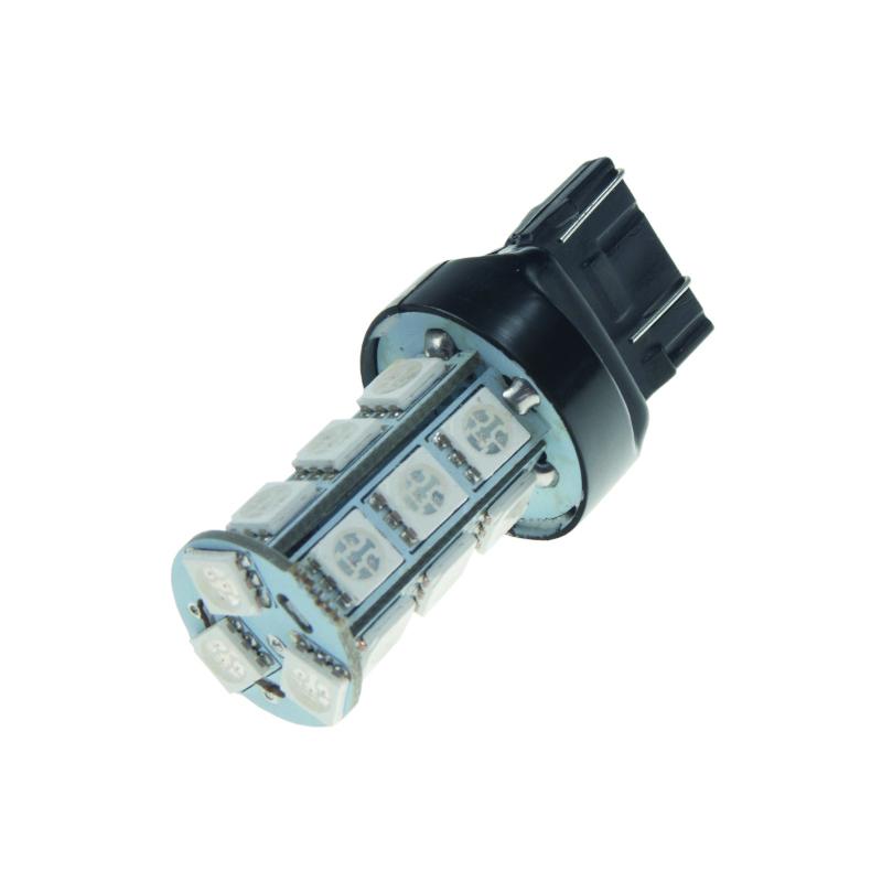 LED T20 (7443) oranžová, 12V, 18LED/3SMD