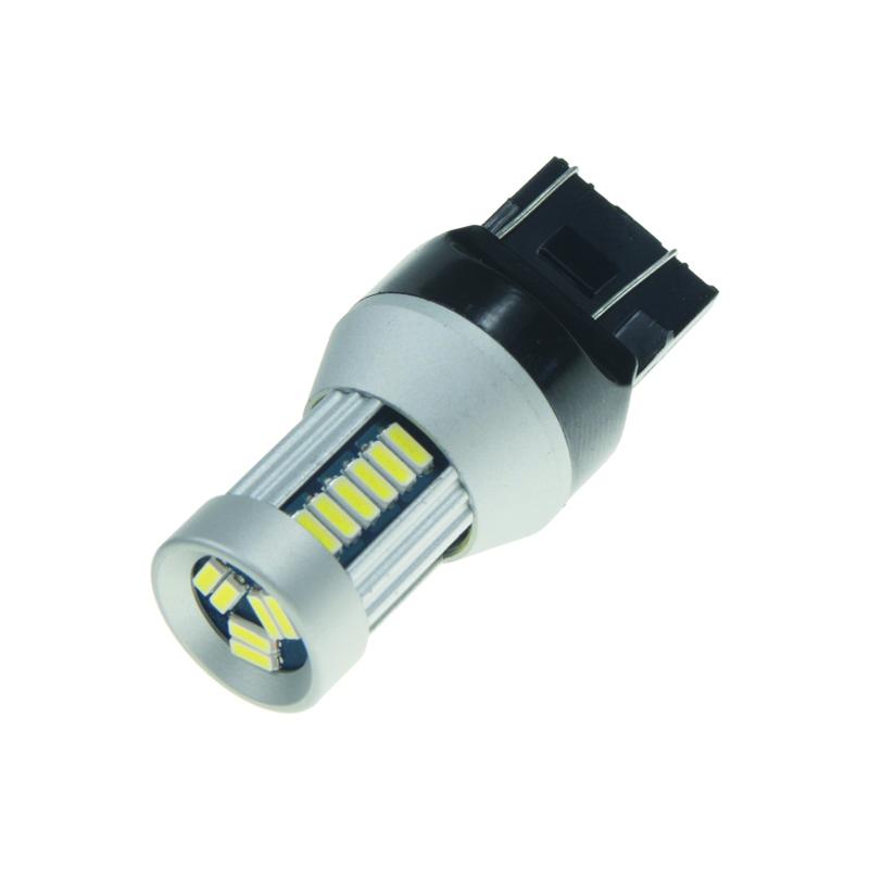 LED T20 (7443) bílá, 12-24V, 30LED/4014SMD - dvouvlákno