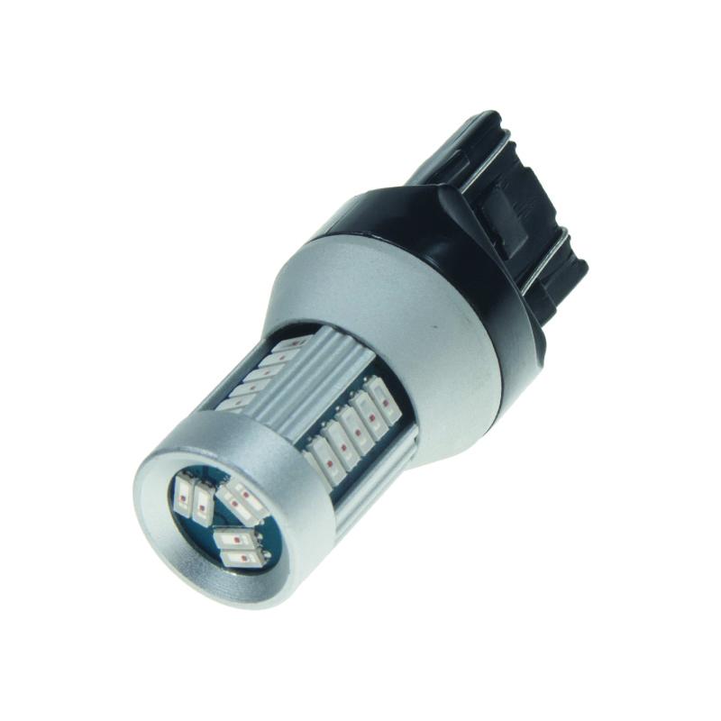 LED T20 (7443) červená, 12-24V, 30LED/4014SMD