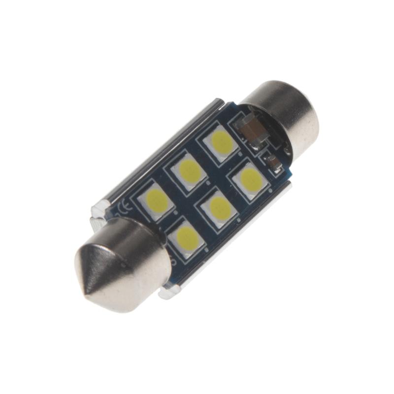 LED sufit (39mm) bílá, 12V, 6LED/3030SMD