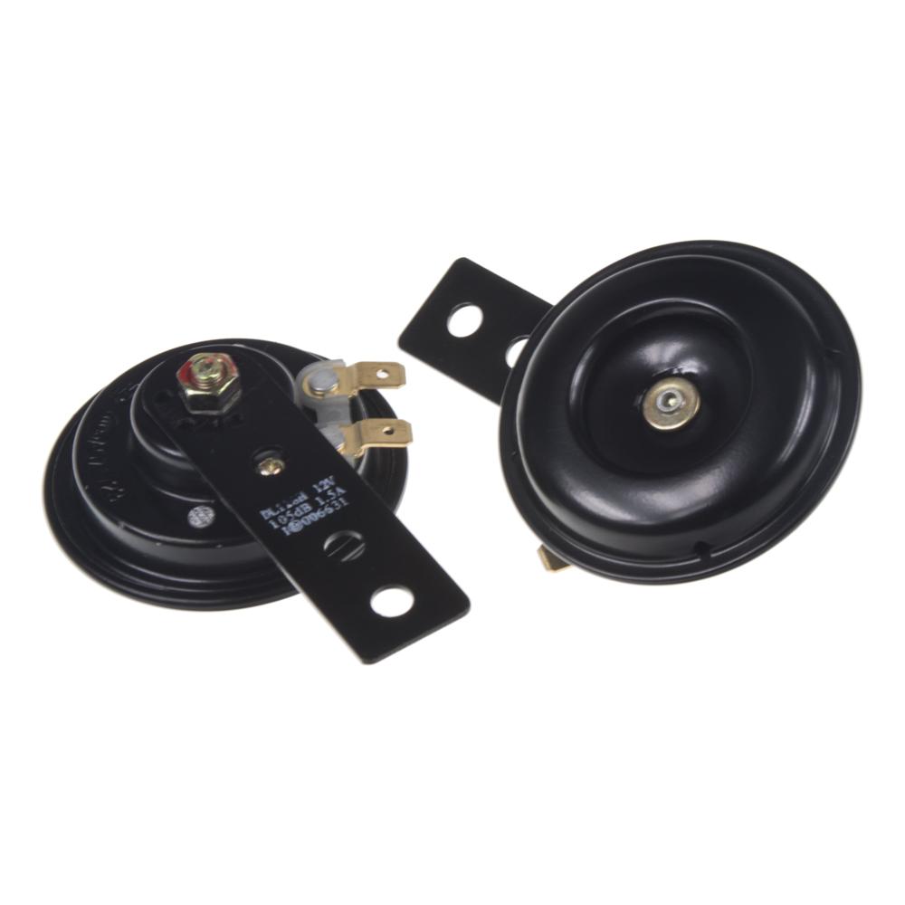 Diskový klakson (vysoký a nízký tón), průměr 65mm, 12V