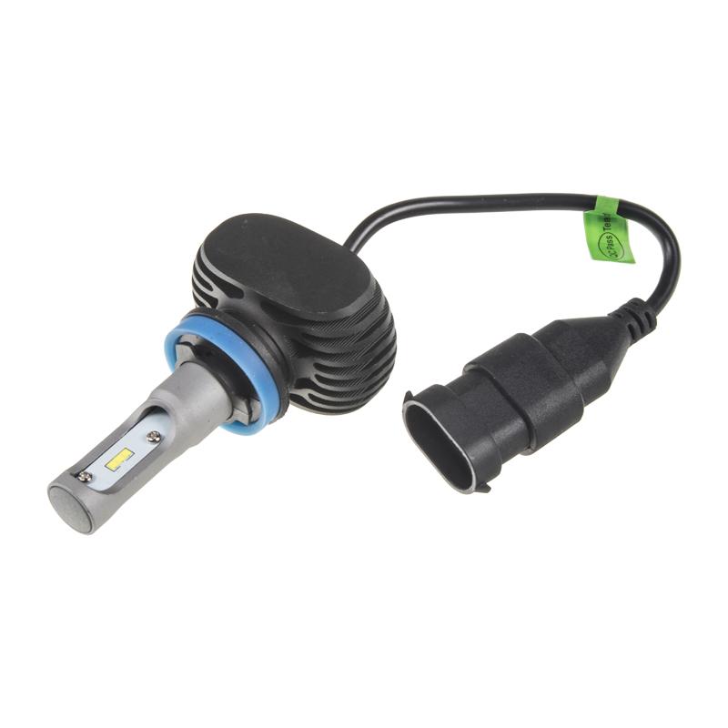 x CSP LED H8 bílá, 9-32V, 4000LM, IP65