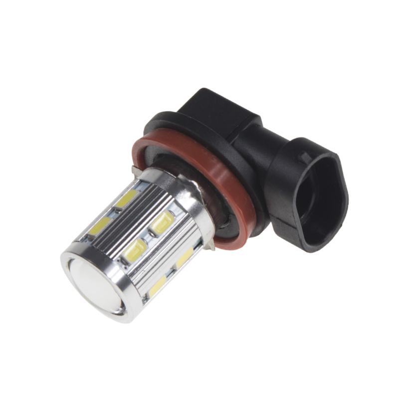LED H11 bílá 10-30V, 12SMD 5630 + 3W