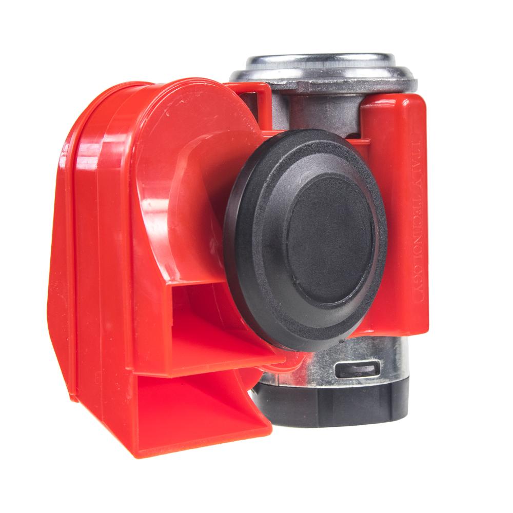 Šneková kompresorová fanfára 24V, červená