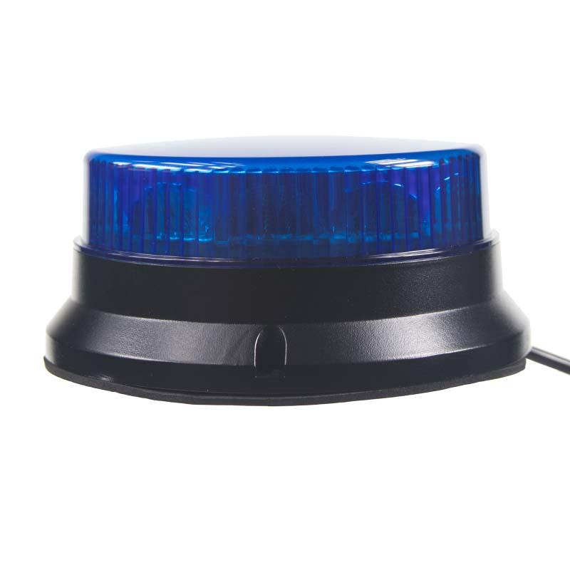 PROFI LED maják 12-24V 12x3W modrý ECE R65 74x170mm