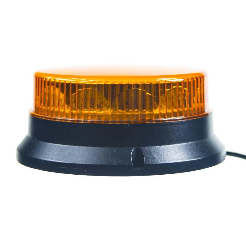 PROFI LED maják 12-24V 12x3W oranžový magnet ECE R65 74x170mm