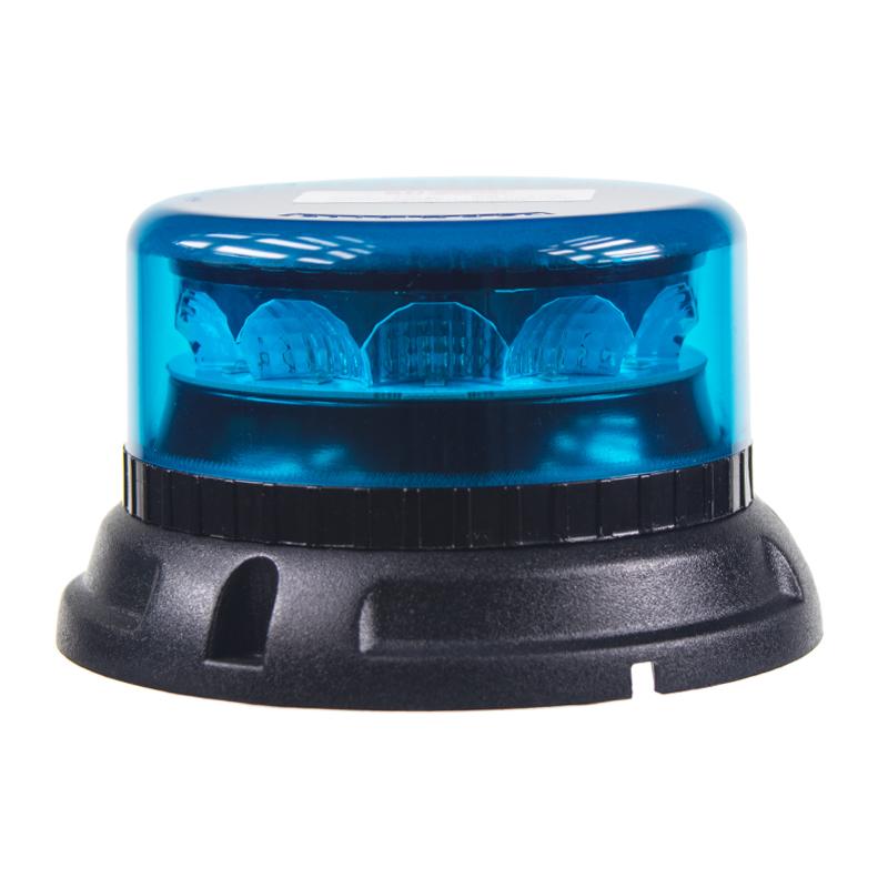 PROFI LED maják 12-24V 12x3W modrý 133x76mm, ECE R65