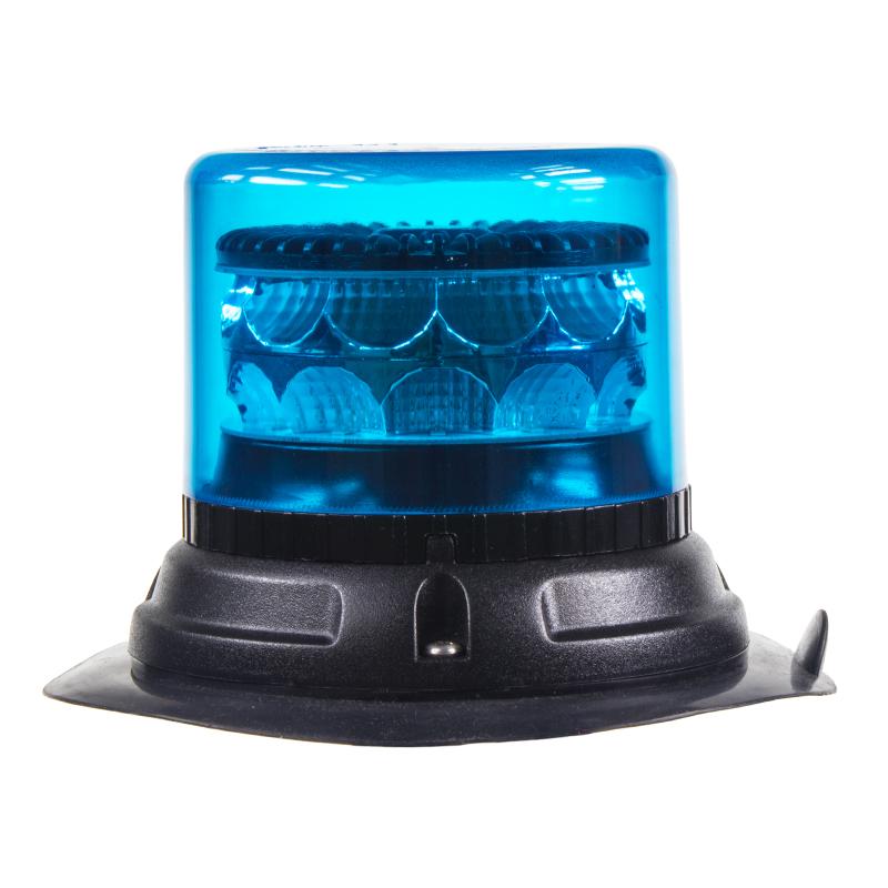 PROFI LED maják 12-24V 24x3W modrý magnet 133x86mm, ECE R65