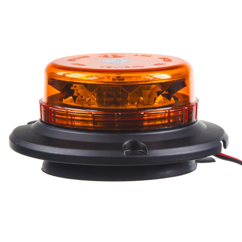 LED maják, 12-24V, 12x3W oranžový, magnet, ECE R65