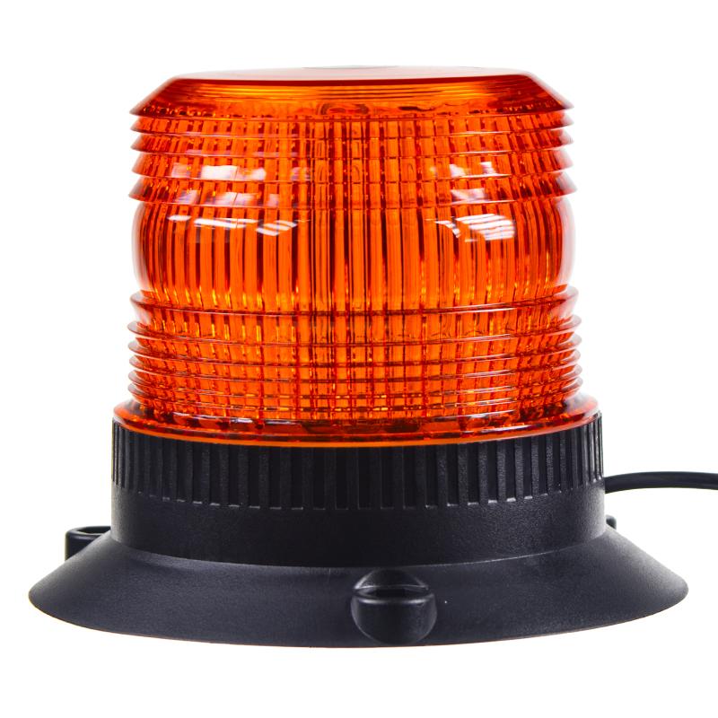 Zábleskový maják, 12-24V, oranžový magnet,