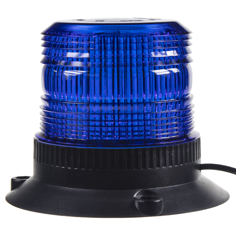 Zábleskový maják, 12-24V, modrý magnet, ECE R10