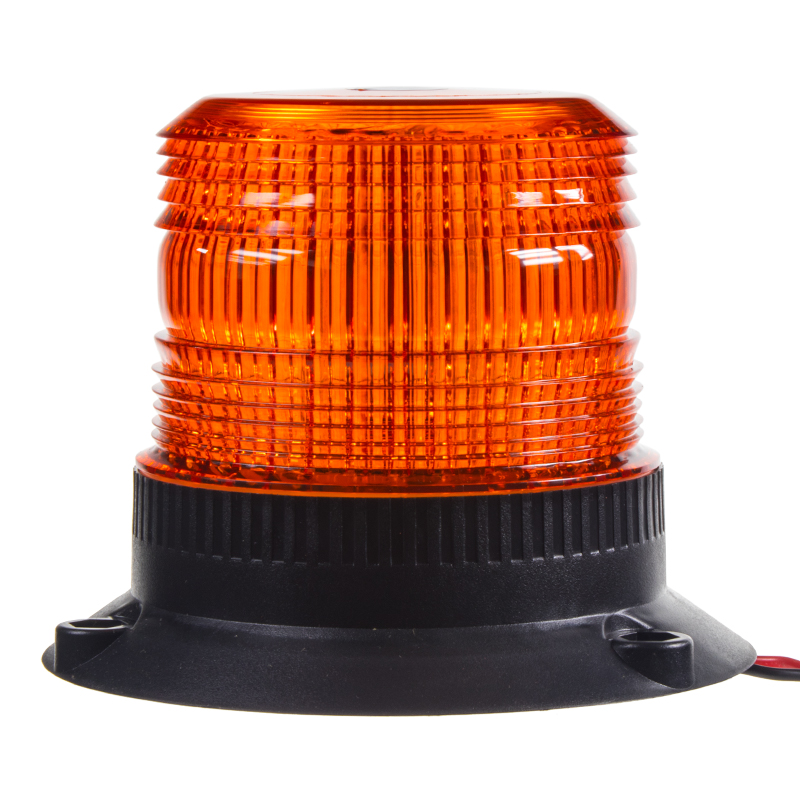 Zábleskový maják, 12-24V, oranžový, ECE R10