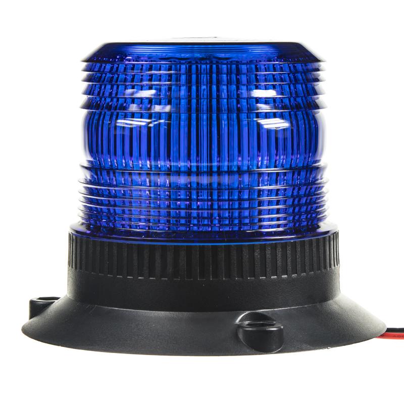 Zábleskový maják, 12-24V, modrý,