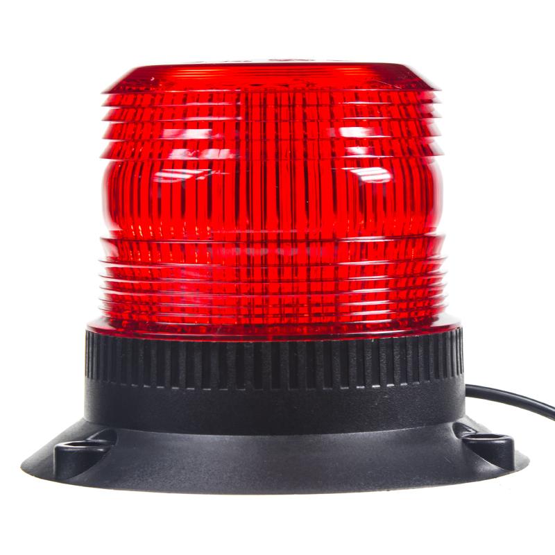 Zábleskový maják, 12-24V, červený magnet, ECE R10
