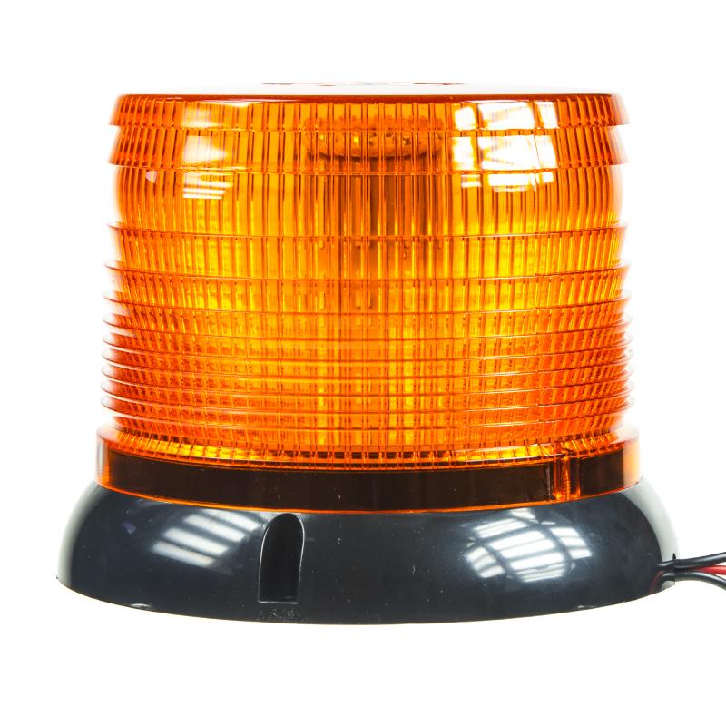 LED maják, 12-24V, oranžový, homologace