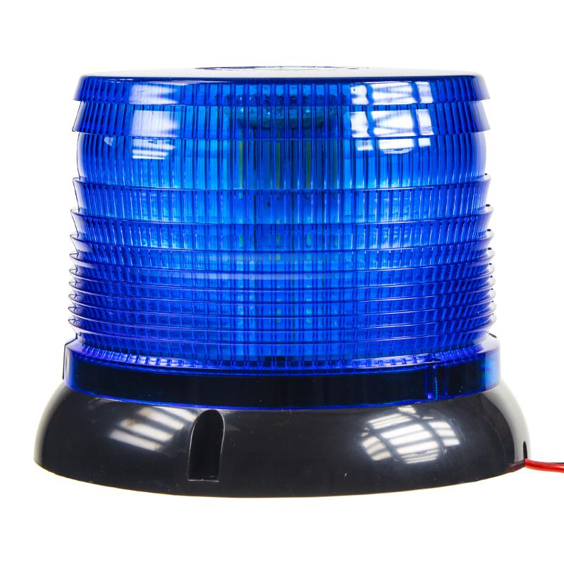 LED maják, 12-24V, modrý, homologace