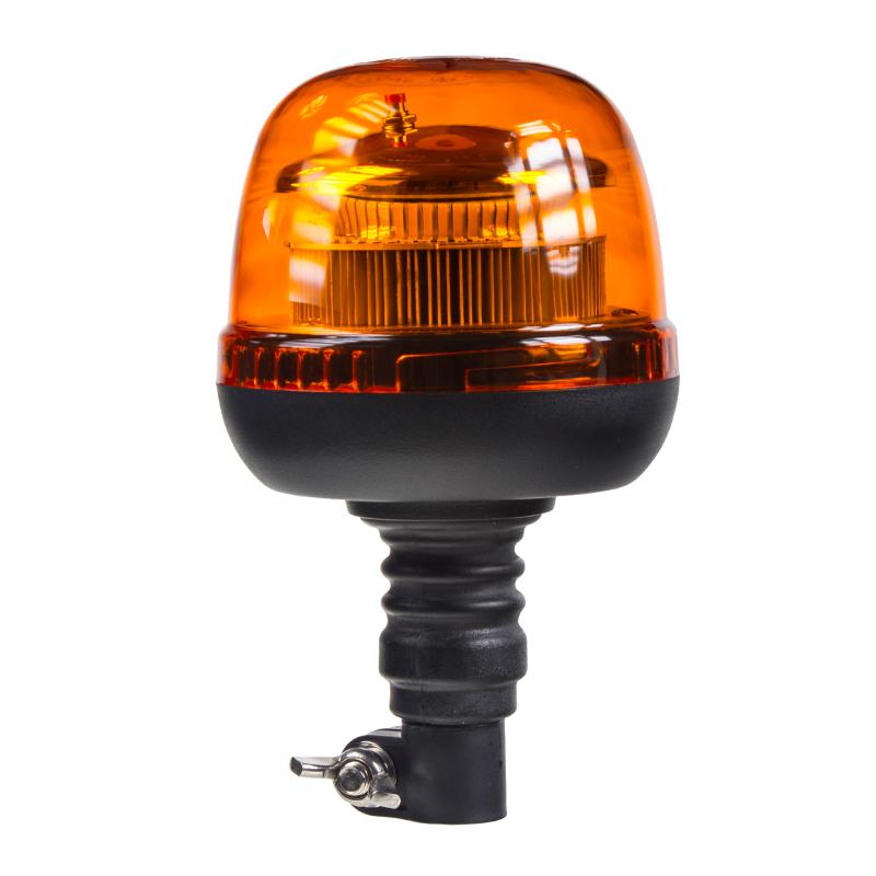LED maják, 12-24V, 45xSMD2835 LED, oranžový, na držák, ECE R65