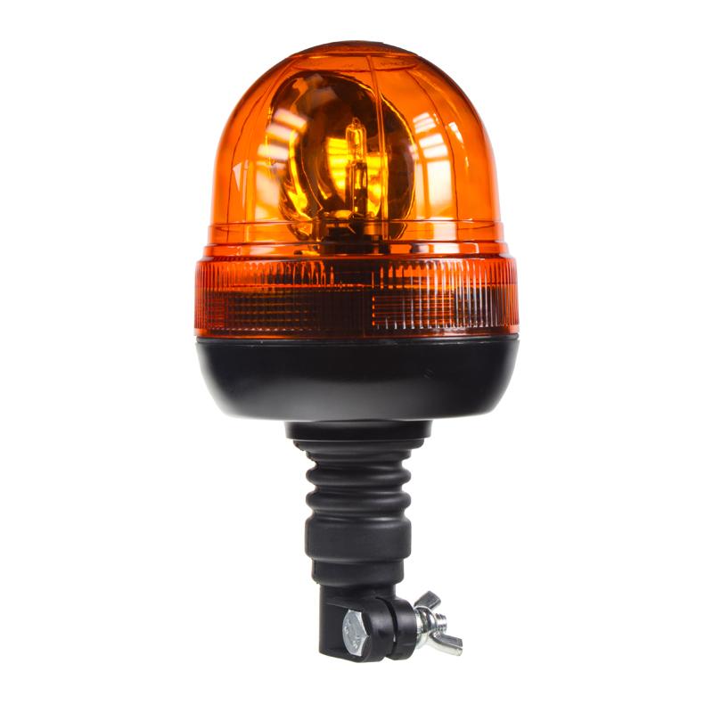 Halogen maják, 12 i 24V, oranžový na držák, ECE R65