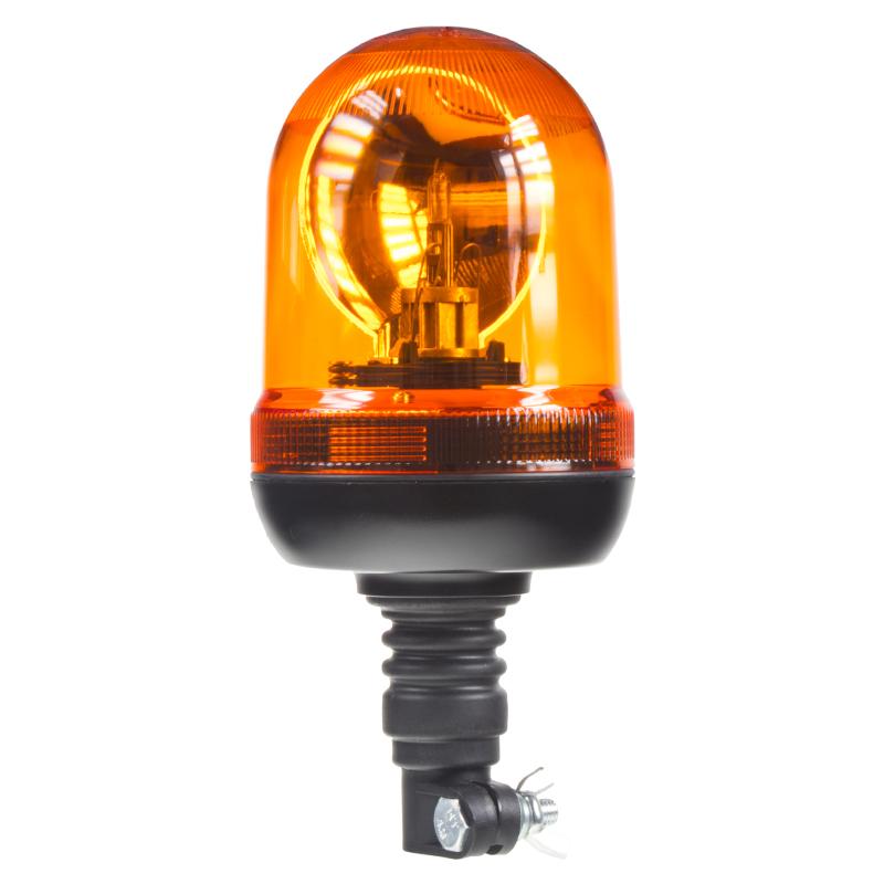 x Halogen maják, 12 i 24V oranžový na držák, ECE R65