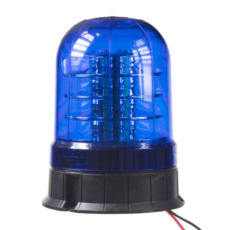 LED maják, 12-24V, 24x3W modrý ECE R10