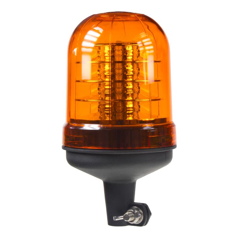LED maják, 12-24V, oranžový na držák, ECE R65