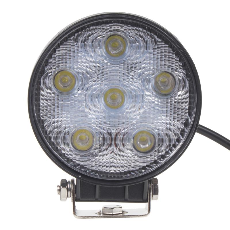 LED světlo na pracovní stroje kulaté 10-30V, LED epistar, ECE R10