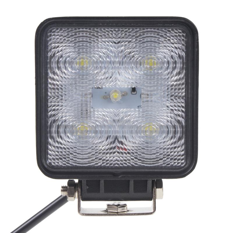 LED světlo čtvercové, 5x3W, 128x110mm