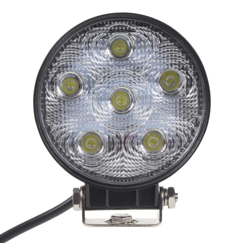 LED světlo kulaté, 6x3W, 128x116mm, ECE R10