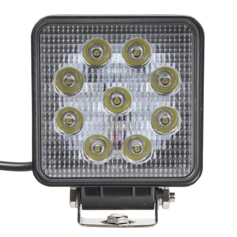 LED světlo na pracovní stroje 10-30V, 9x3W, bodové světlo, R10