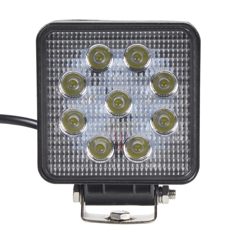 LED světlo na pracovní stroje 10-30V, 9x3W, rozptýlené světlo, ECE R10