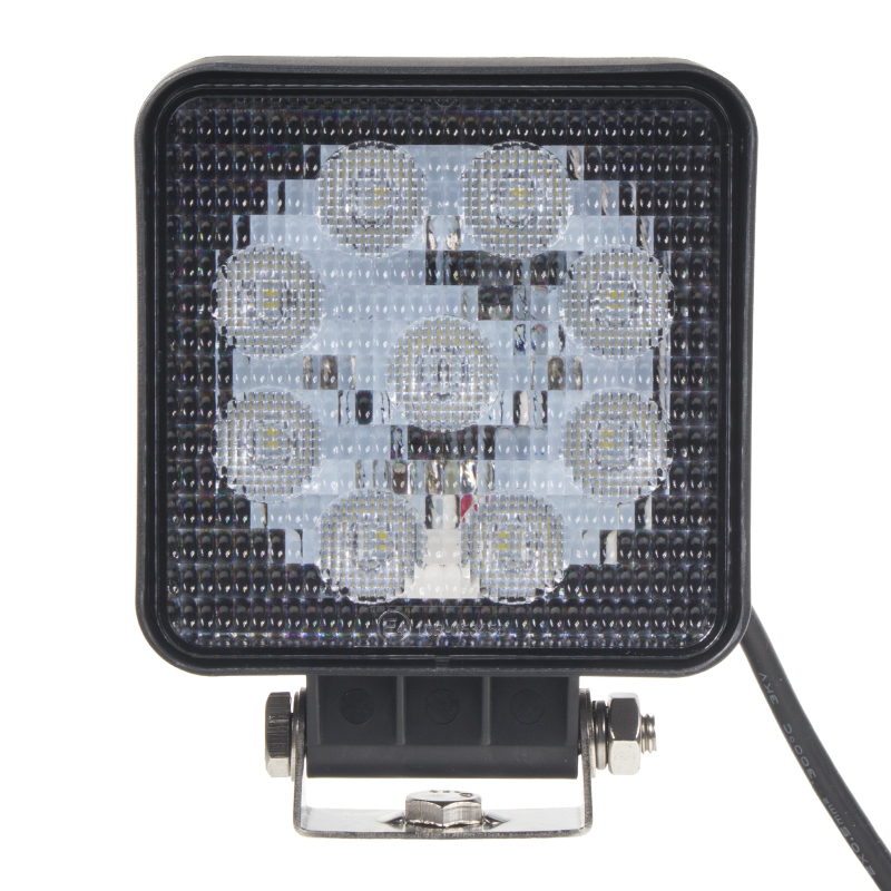 LED extra SLIM světlo na prac. stroje 10-30V, 9x3W, ECE R10