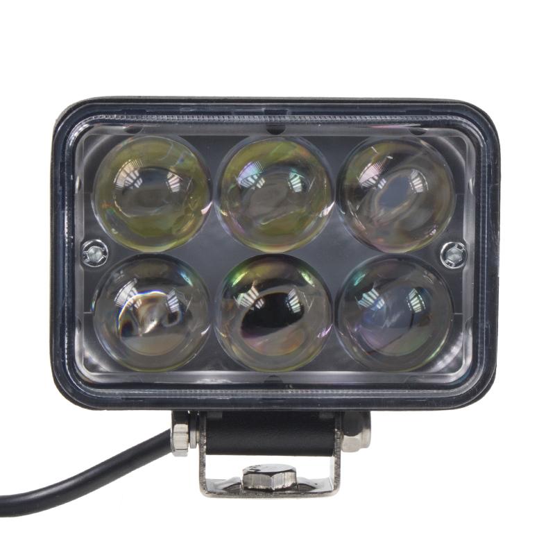 LED světlo obdélníkové, 6x3W, 111x92mm