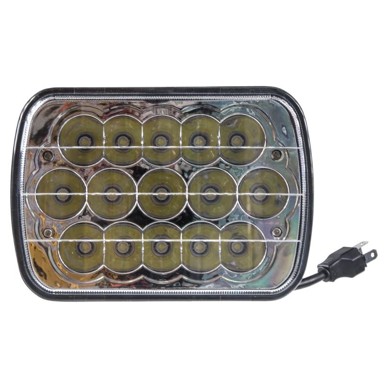 LED světlo obdélníkové, 15x3W, 196x138mm