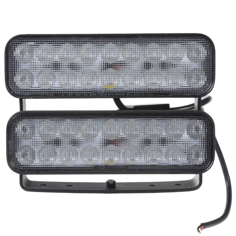 LED světlo obdélníkové dvojité, 36x3W, 180mm