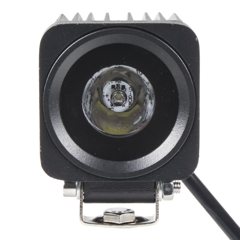 x LED 1x10W světlo na mot./prac.světlo hranaté 10-30V, bodový paprsek