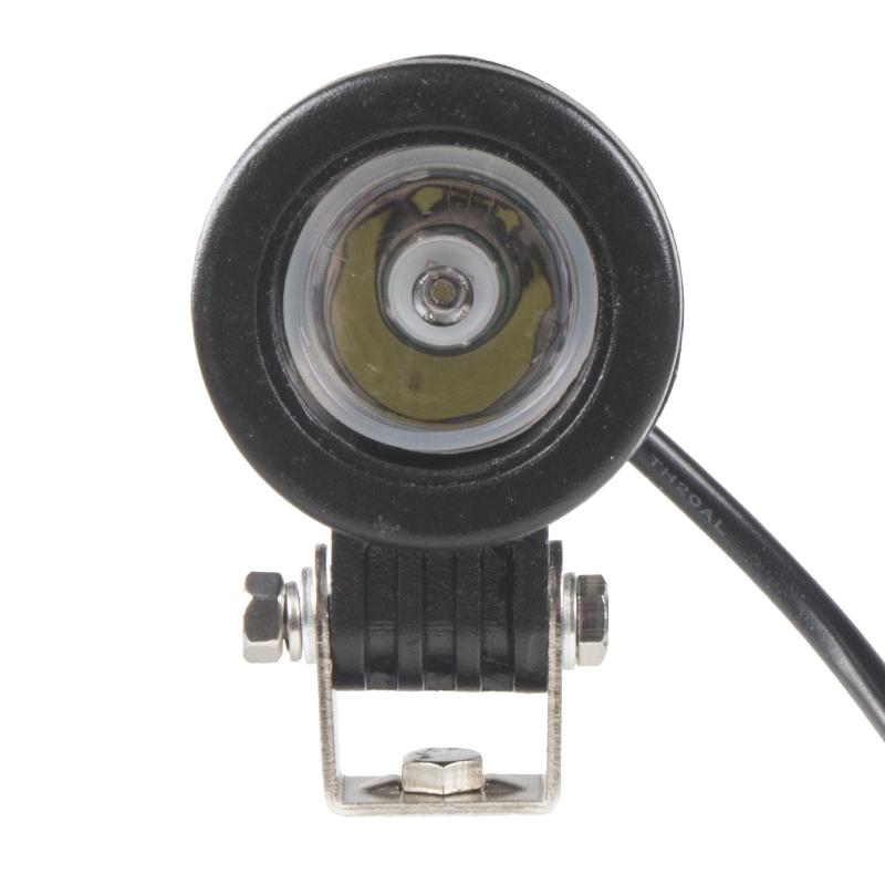 LED 1x10W světlo na mot./prac.světlo kulaté 10-30V, bodový paprsek