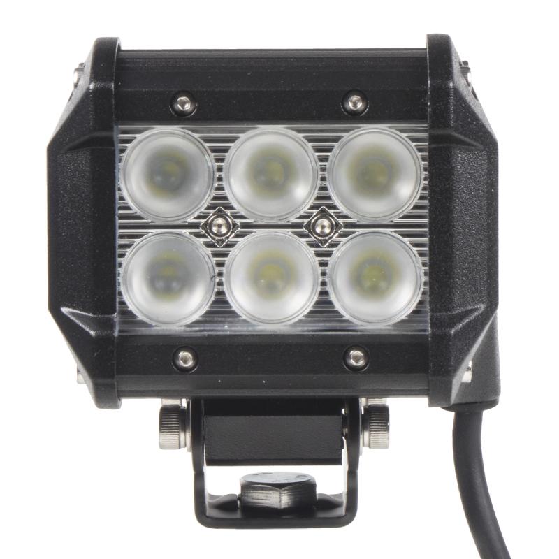 LED 6x3W světlo na prac.stroje, 9-32V, 99x73x107mm