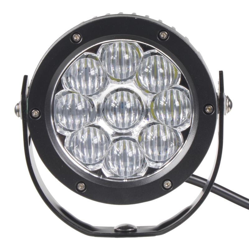 LED 9x3W prac.světlo kulaté, 9-32V, 127mm